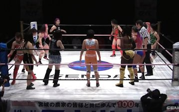 Sendai Girls' on 1/12 Battle Royal