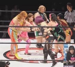 Chihiro Hashimoto, DASH Chisako & Meiko Satomura vs. Haruka Umesaki, Kaoru Ito & Kyoko Inoue