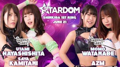 AZM & Momo Watanabe vs. Saya Kamitani & Utami Hayashishita
