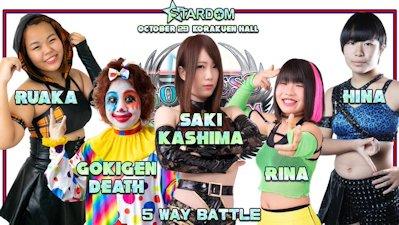 Gokigen Death vs. Hina vs. Rina vs. Ruaka vs. Saki Kashima