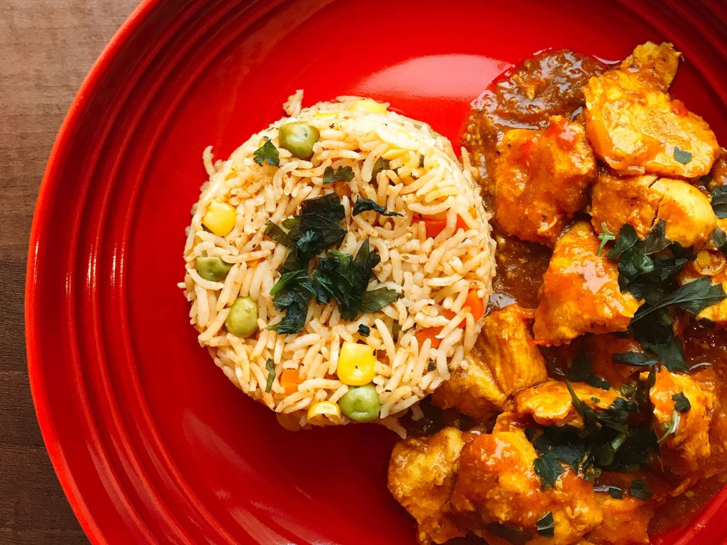 Instant Pot Chicken Curry & Vegetable Rice