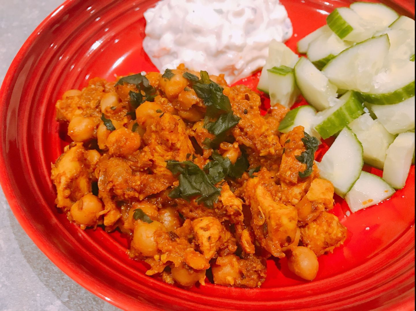 Jeera Chicken and Chickpea Curry