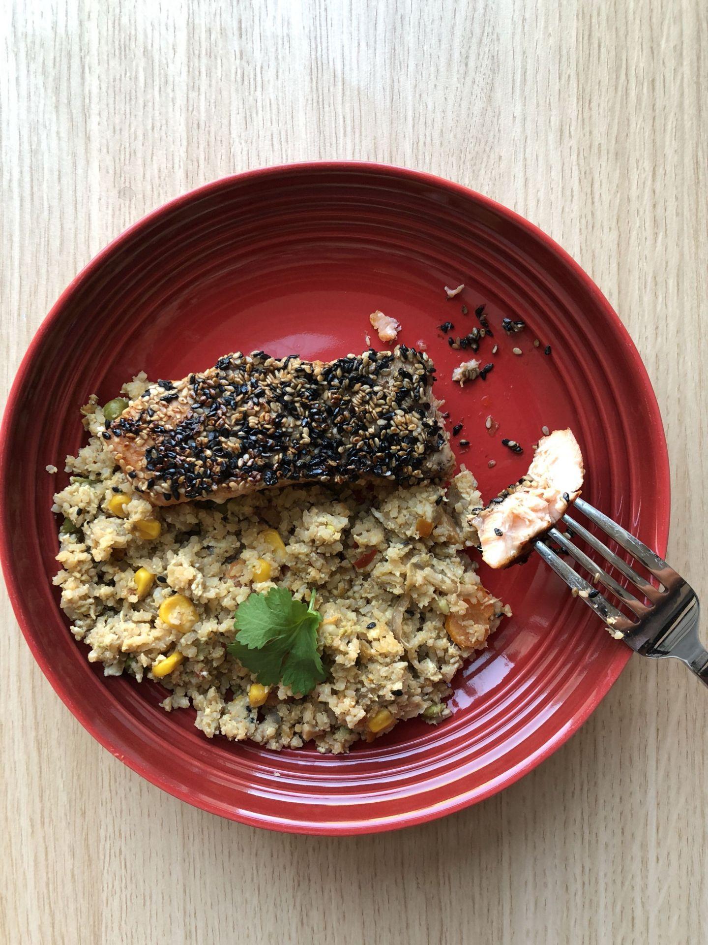 Sesame Crusted Teriyaki Salmon