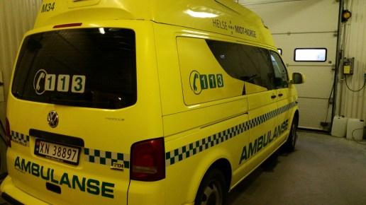 Bright yellow ground ambulances are hard to miss!