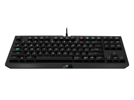 The Razer keyboard features a USB pass-through port for your mouse.