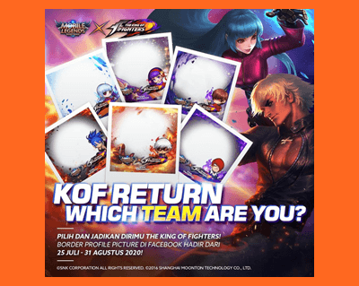 Skin KOF Mobile Legends Gratis di Event MLBB x KOF