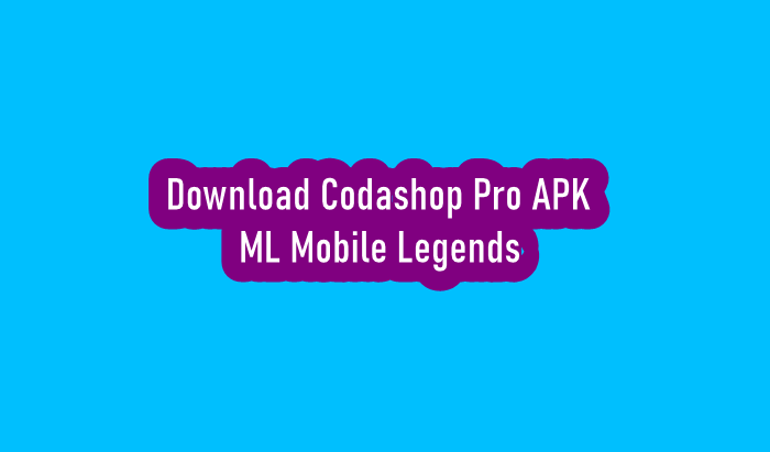 Download Codashop Pro APK ML Mobile Legends