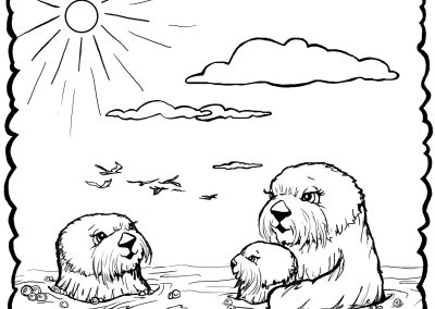 otter coloring page # 59