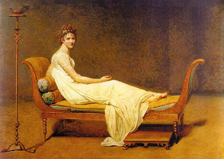 Madame Récamier By Jacques Louis David