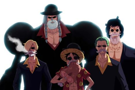 Disguised Strawhat Pirates at Dressrosa