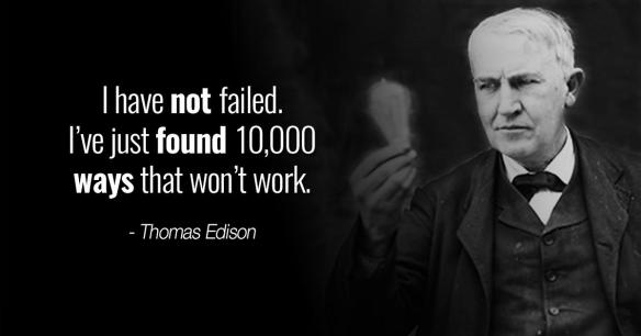 Thomas Edison fail quote