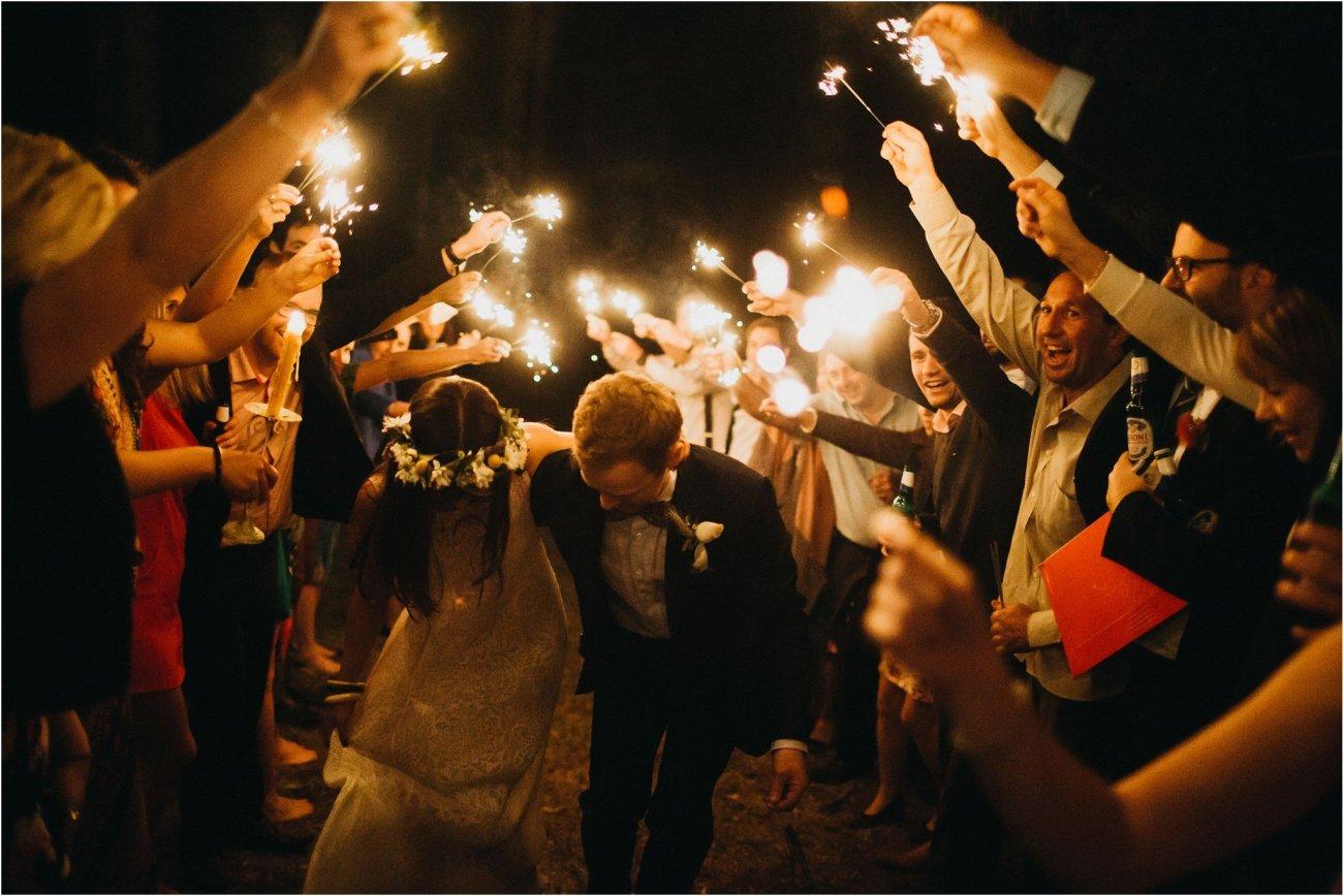 hunter valley wedding sparklers