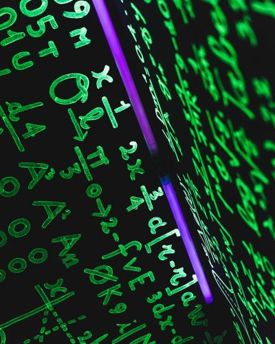 neon-green-numbers-symbols-equations
