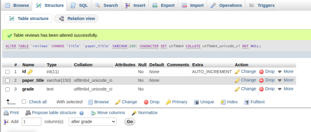 phpMyAdmin-structure-view-changed-column-metadata