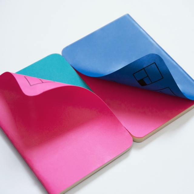 image of notebooks folded up
