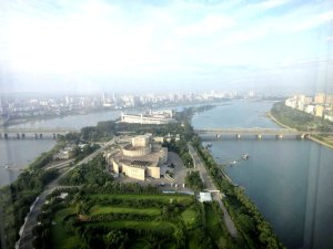 Pyongyang from our hotel