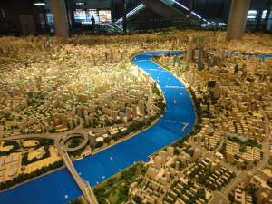 Scale model of Shanghai from the Urban Planning Museum