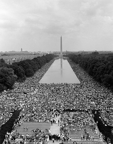 "Martin Luther King's ""I Have A Dream"" speech crowd"