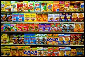 Supermarket cereal aisle