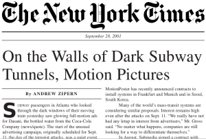 New York Times reports on Submedia's launch