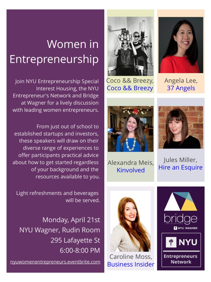 NYU Women in Entrepreneurship Panel