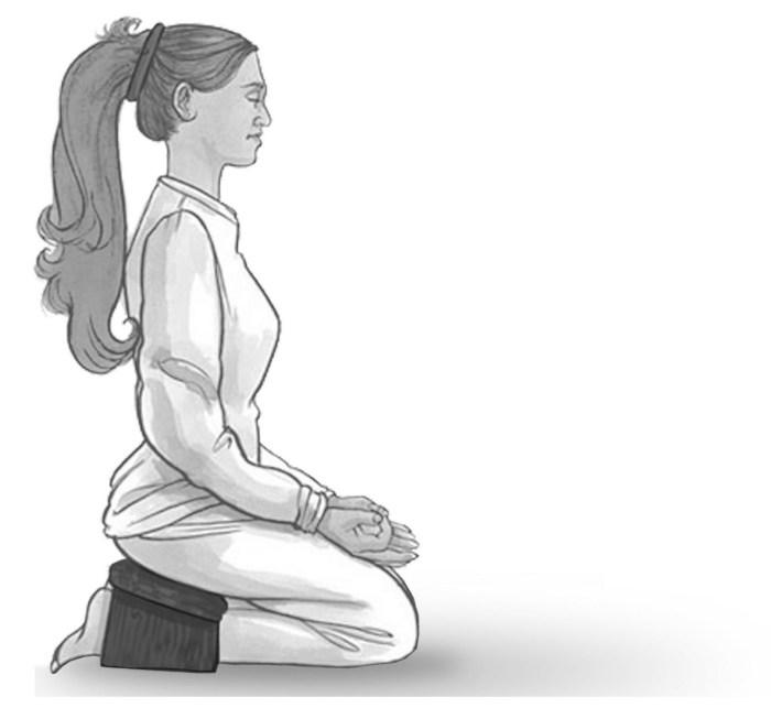 Meditating On A Stool