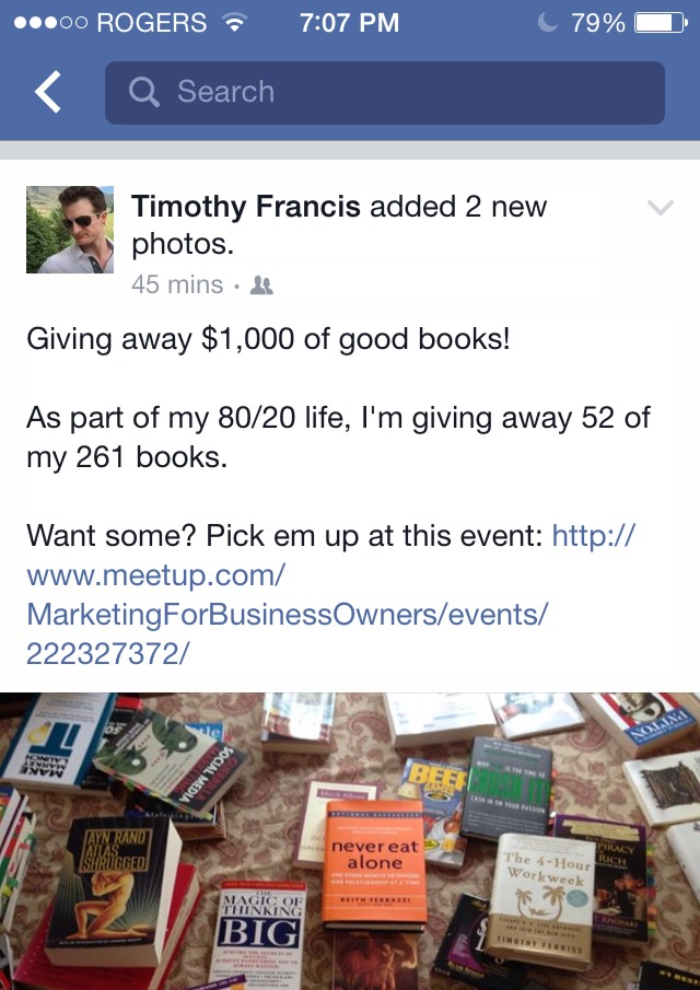Tim Francis Getting Rid of Books