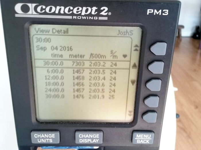 Rowing readout
