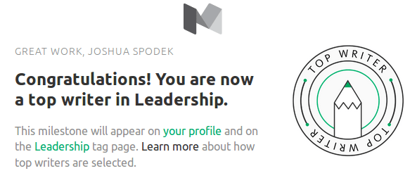 Joshua Spodek Top Writer Leadership