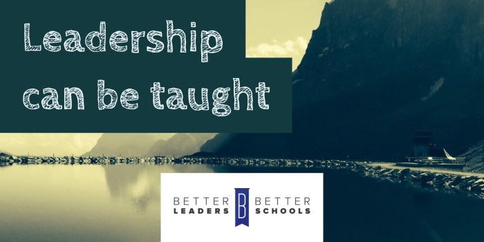 leadership can be taught