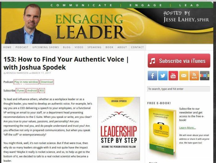 engaging leader jesse lahey interview joshua spodek