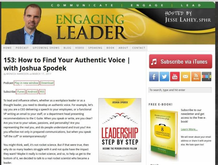 engaging leader jesse lahey interview joshua spodek
