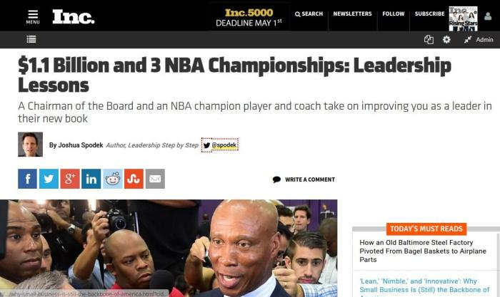 Byron Scott Chuck Norris Slam-Dunk Success review by Joshua Spodek