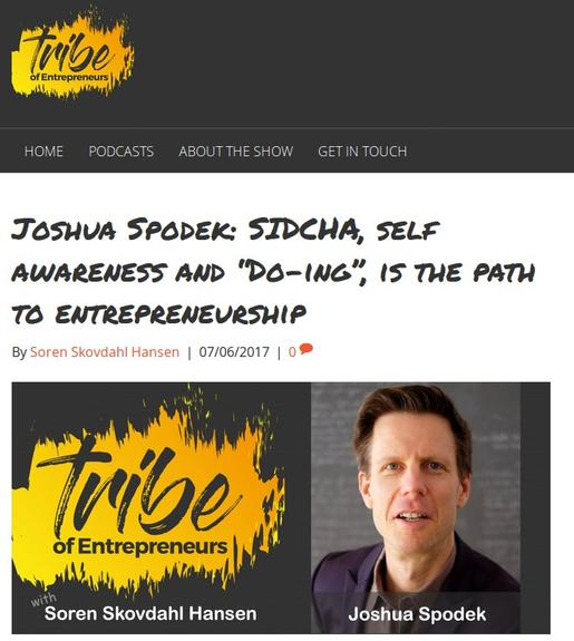 Tribe Of Entrepreneurs podcast with Joshua Spodek