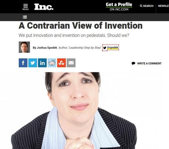 A Contrarian View of Invention
