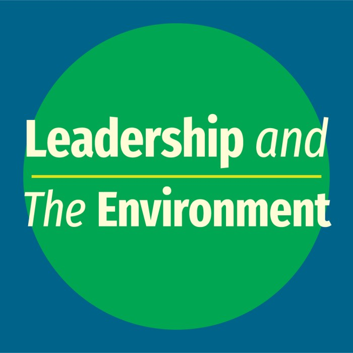 Leadership and the Environment logo