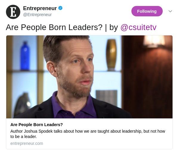 Entrepreneur Magazine covers Joshua Spodek