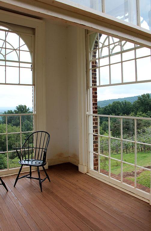 Monticello's vegetable garden from the pavillion
