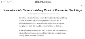 NY Times: Extensive Data Shows Punishing Reach of Racism for Black Boys