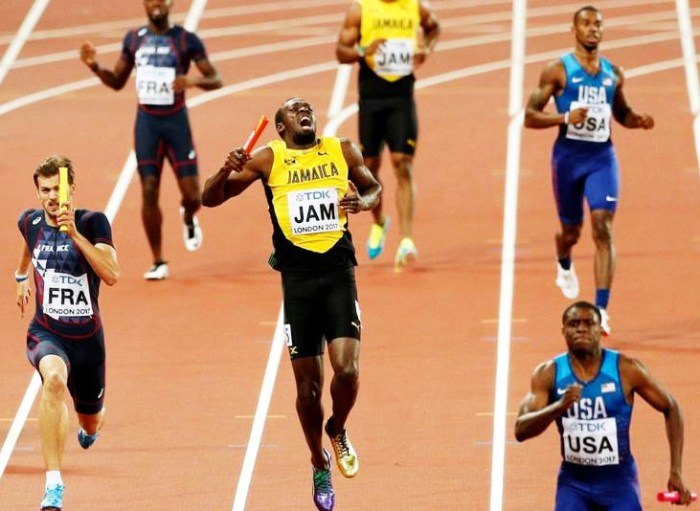 One of Usain Bolt's many injuries. I haven't been injured near to his scale.