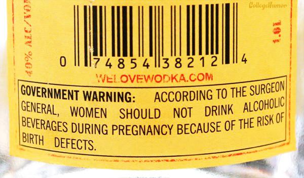 alcohol warning