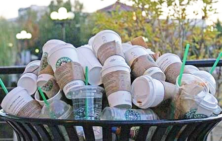 starbucks garbage