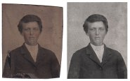 1903 Tintype Restoration