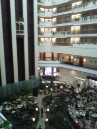 View of the Atrium from above