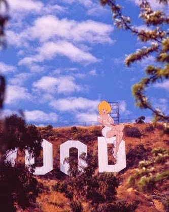 Holli Would on The Hollywood Sign (July 1992)