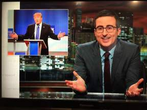 "John Oliver on ""Last Week Tonight With John Oliver"""