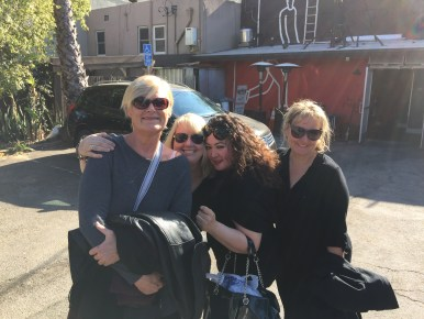 Ann, Tracy, Diane & Ber in Hollywood 2016