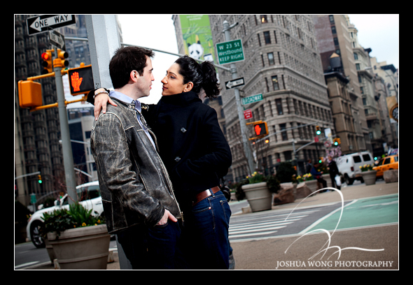 Flatiron District Engagement Pictures by Josh Wong Photography