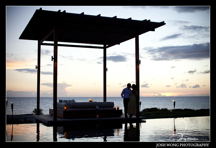 Engagement pictures at the Amanyara Resort, Turks and Caicos. Engagement photos by destination engagement photographer Josh Wong Photography