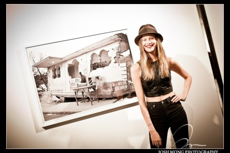 Fashion Model and Victoria Secret Angel Behati Prinsloo and one of her images.
